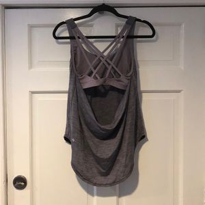 LuluLemon Gray/Lilac Built in Bra Tank M